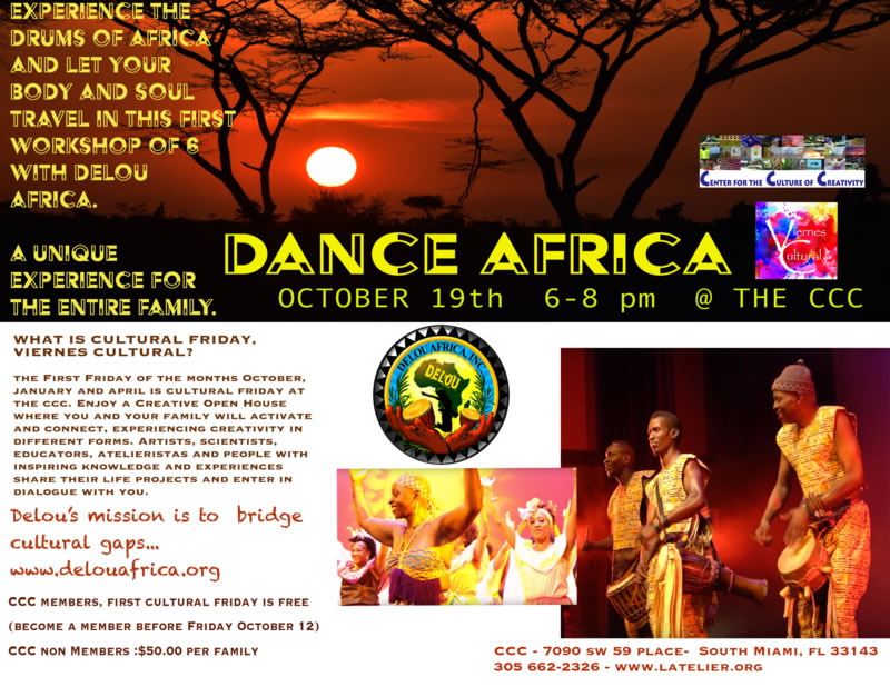 Dance Africa Cultural Friday CCC October 2018